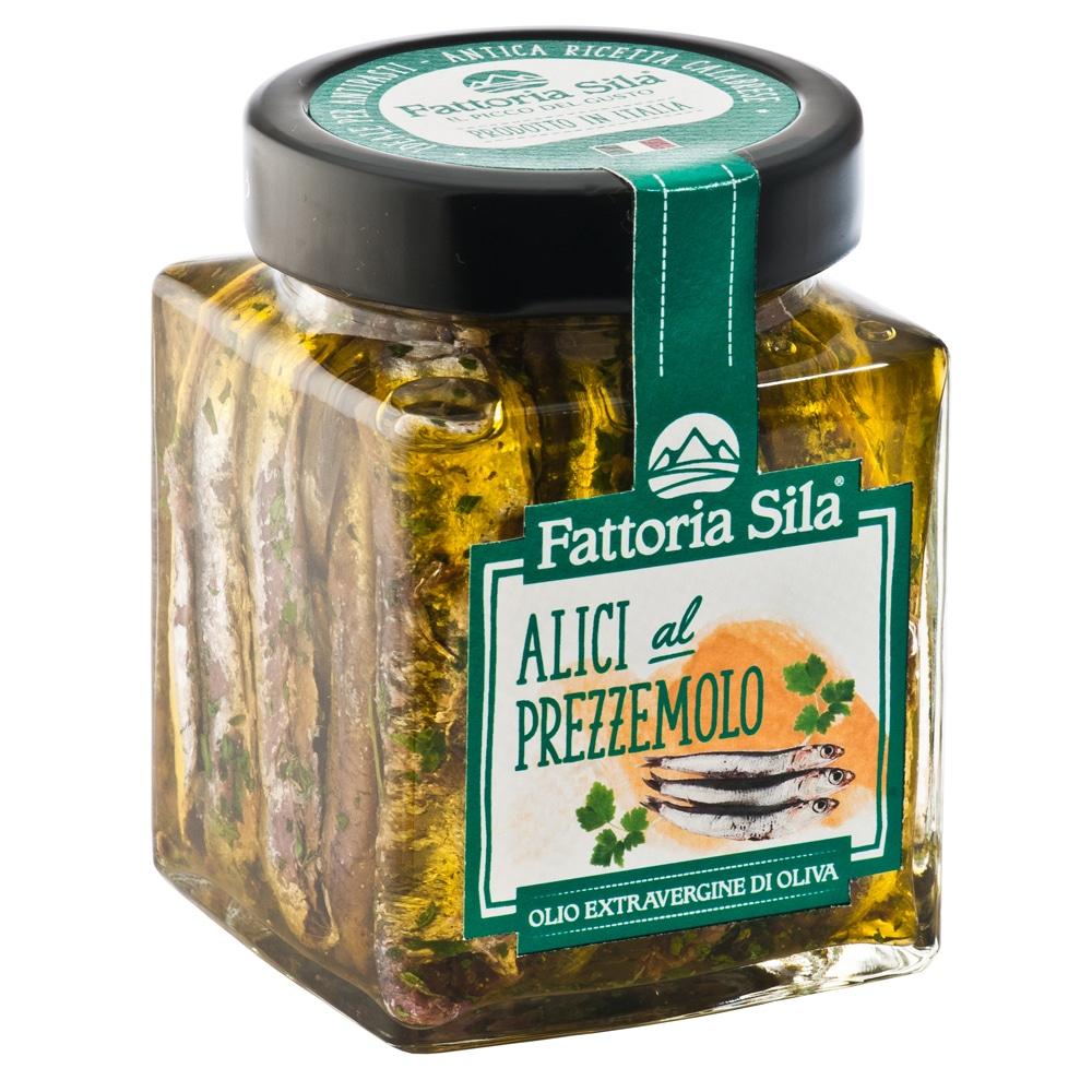 alici al prezzomolo con olio d'oliva